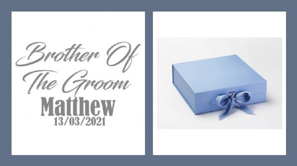 Brother Of The Groom Large Luxury Personalised Gift Box